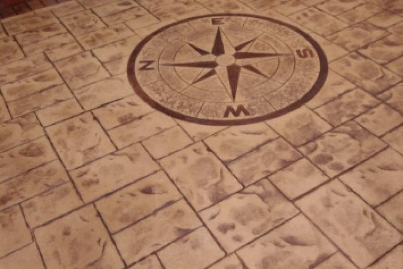 Compass In Sandstone